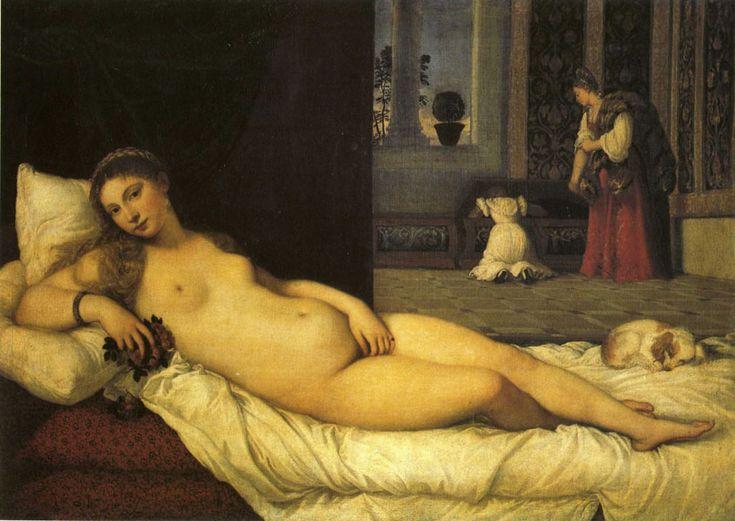 Titien, Vénus d'Urbin 1538  Histoire de l'art - Les mouvements dans la peinture - La renaissance