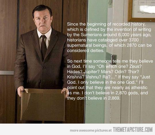 Ricky Gervais On God…
