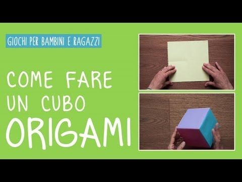 ▶ Come fare un cubo origami con la carta - tutorial - YouTube