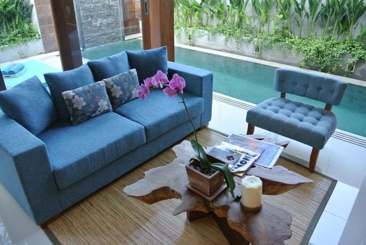 living area in one bed room pool villa..