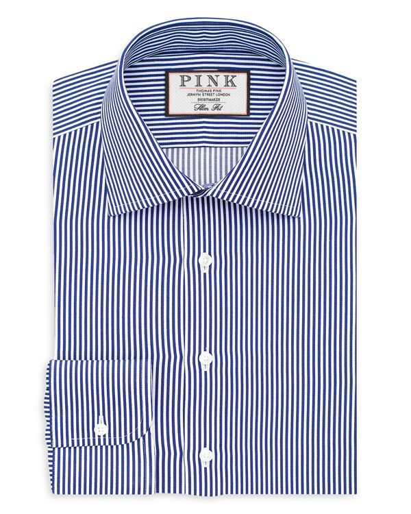 Thomas Pink Grant Stripe Slim Fit Dress Shirt
