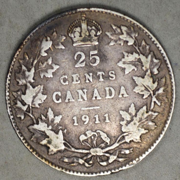 Canada 1911 25 Cents Silver Coin  Price : $0.99  Ends on : 2 hours Order Now