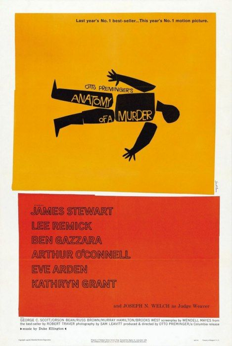 Photos: ANATOMY OF A MURDER, by Saul Bass, 1959 | The Best Graphic Movie Posters of All Time | Vanity Fair
