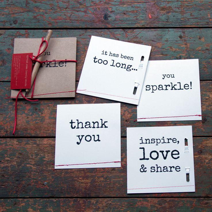 ** spread some lovely words - I | set of 4 cards | white or brown ** Deze set kaarten is een kadootje op zich! Natuurlijk is het leuk om ze zelf te schrijven en te versturen, maar dit setje is ook een heel origineel kado!