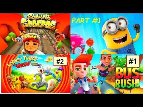 Subway Surfers - Minion Rush - Looney Tunes Dash - Bus Rush (720 HD)