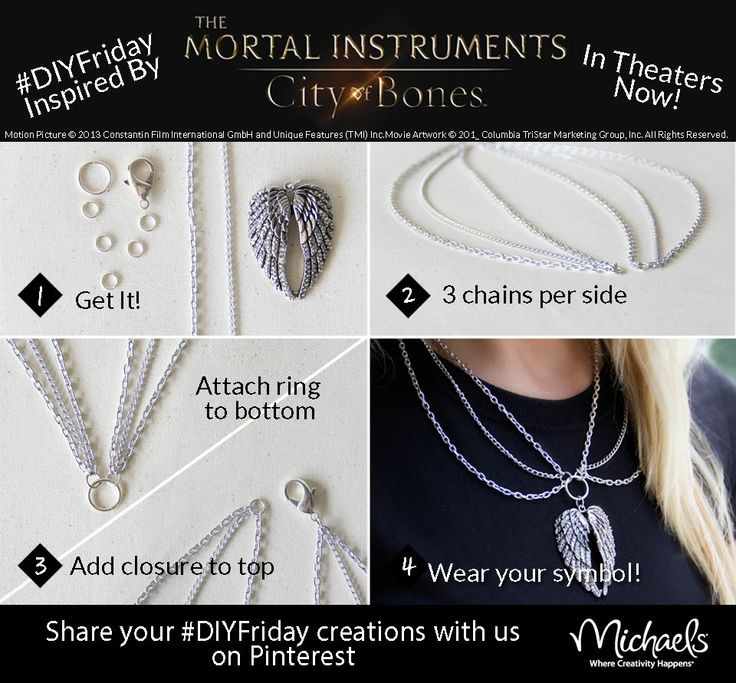 DIYFriday inspired by The Mortal Instruments City of Bones - in theaters now! @Matt Nickles Valk Chuah Mortal Instruments Movie