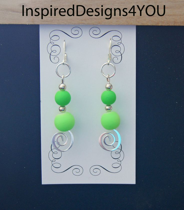 Beautiful spiral neon lime green earrings add a graceful dance, matching the new Springtime in Ireland. https://www.etsy.com/listing/181743446/neon-lime-green-sterling-silver-stamped?ref=shop_home_active_4