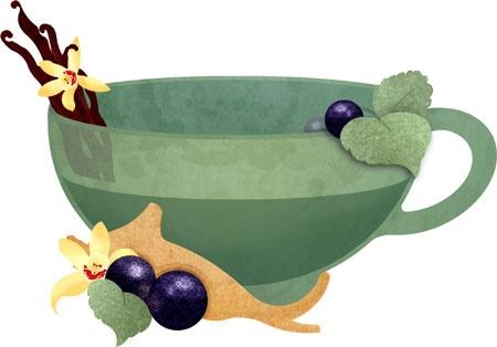 Black Currant Tea ~ Jenny Lloyd Illustration