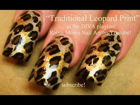 3 Nail Art Designs | Traditional Leopard Print Design | DIVA Nail Tutorial - YouTube