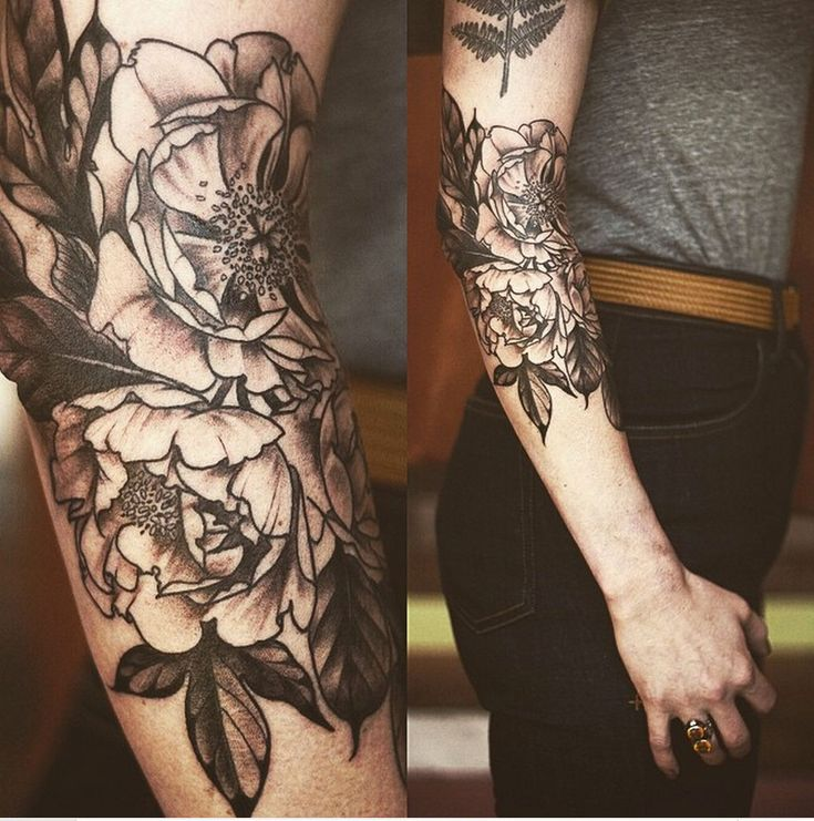 Black and grey peonies (?) by Alice Carrier, Portland, OR