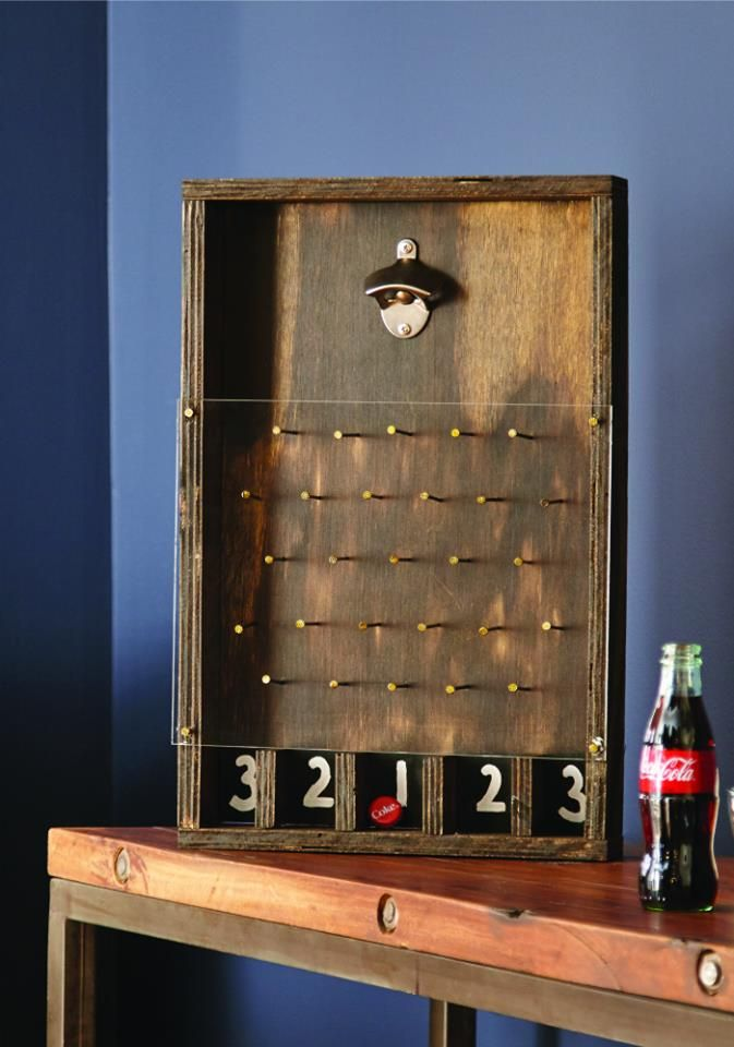 Love this cool DIY Bottle Opener Game!! Much like Plinko! Super cool Father's Day gift idea too!