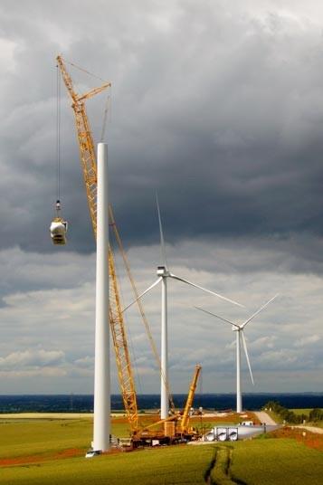 the construction of Wadlow Wind Farm, Cambridgeshire.Picture: Chris Hutchinson