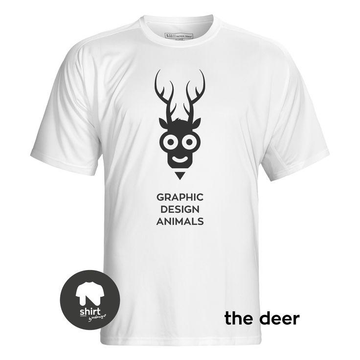 Graphic Design Animals T-Shirt Series, The Deer #T-shirt #design #graphic_design by George Nikolaidis