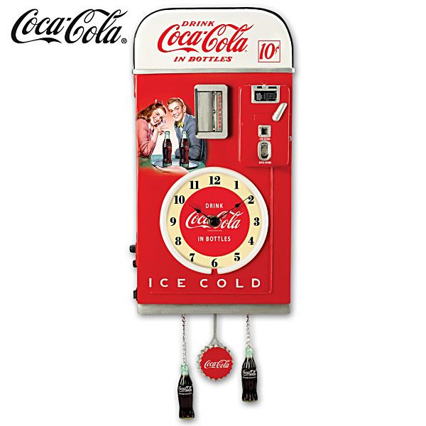 COCA-COLA Time For Refreshment Vending Machine Wall Clock