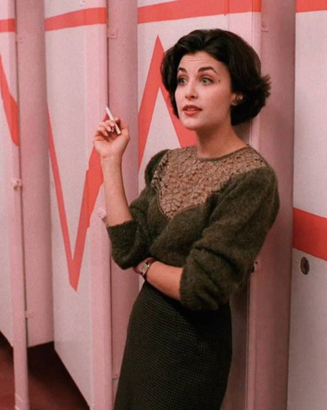 Twin Peaks may open with a nude body wrapped in cellophane, but everyone knows that the show's real stars are the sweaters. The series is an absolute cavalcade of cozy knitwear, each piece more comfy and creepy looking than the last.