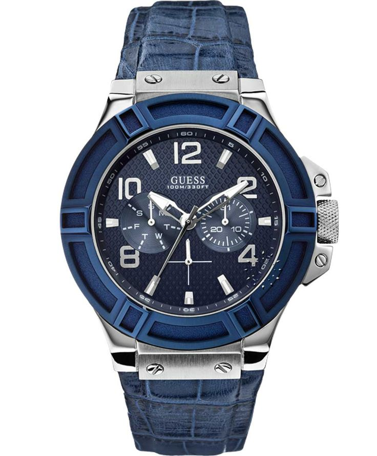 GUESS Multifunction Blue Leather Strap Μοντέλο: W0040G7 Η τιμή μας: 169€ http://www.oroloi.gr/product_info.php?products_id=39886