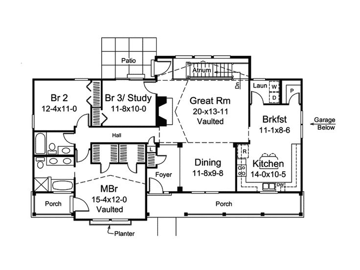 32 best Atrium Ranch Homes images on Pinterest | Floor plans, Home ...