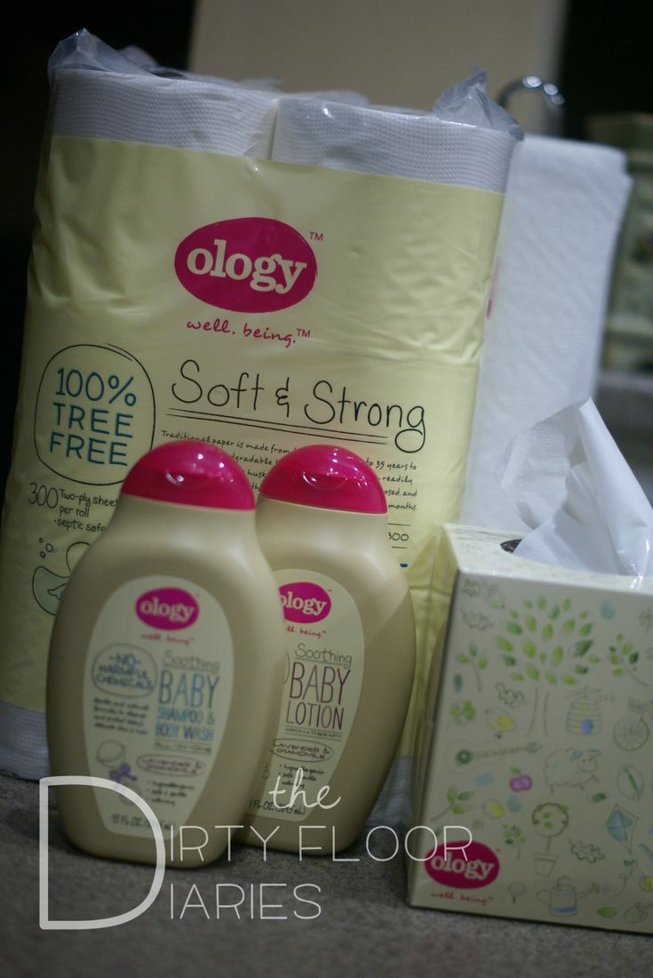 Ology at Walgreens, chemical-free baby skin care, paper products, and house cleaning products