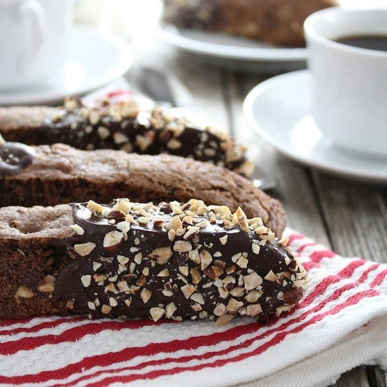 , loaded with chopped hazelnuts, chocolate chips, and coffee, glazed ...
