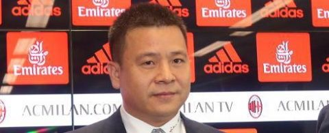 Milan co-owner and president Li Yonghong is at the San Siro this evening