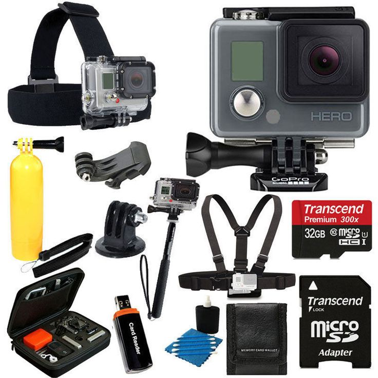 GoPro HERO Camera Camcorder Waterproof CHDHA-301 w/ Head Strap + 32GB Full Kit 818279012262 | eBay
