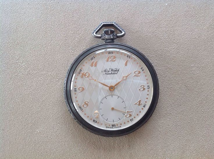 Aero Watc Neuchatel Pocket Watch,  Swiss Made