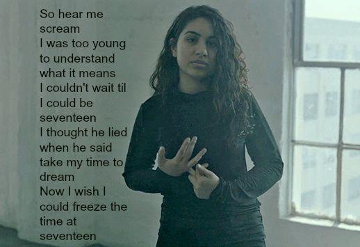 Seventeen - Alessia Cara lyrics