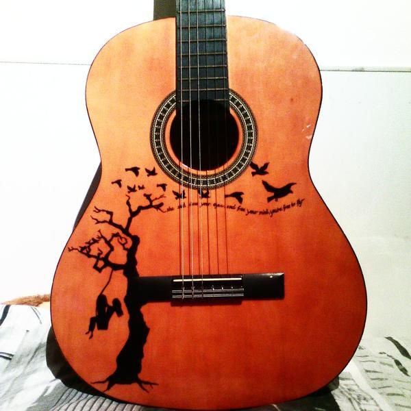 Guitar Sharpie Art