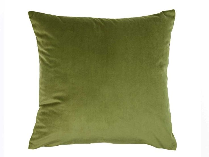 A super soft velvet look cushion cover in a fresh leafy green colour. Coordinates well with many shades including patterns and brights.
