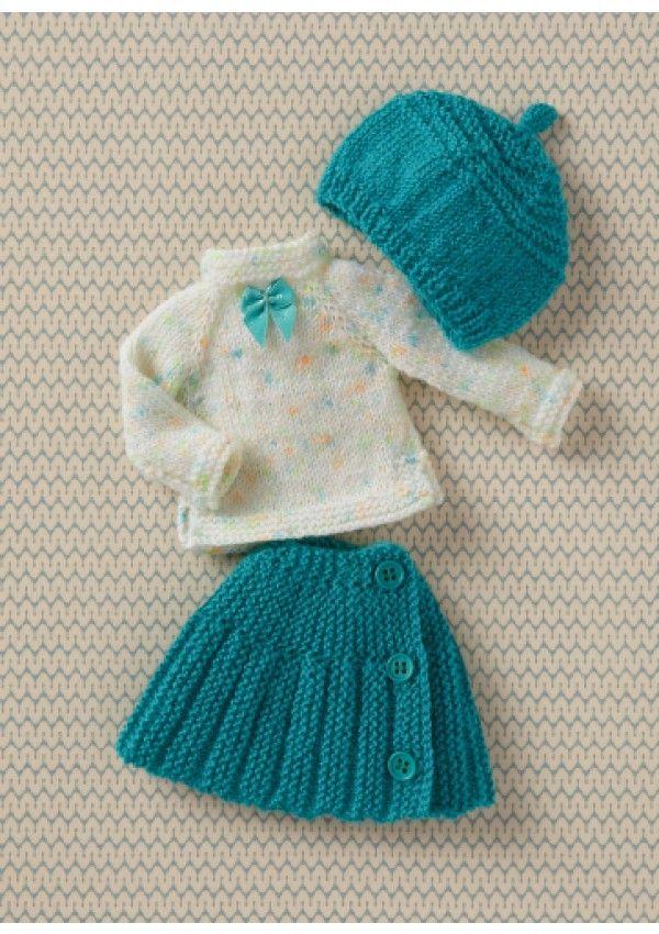 Un livre pour découvrir le tricot tout en s'amusant : 26 tenues à faire soi-même pour habiller les poupées de 33 cm !