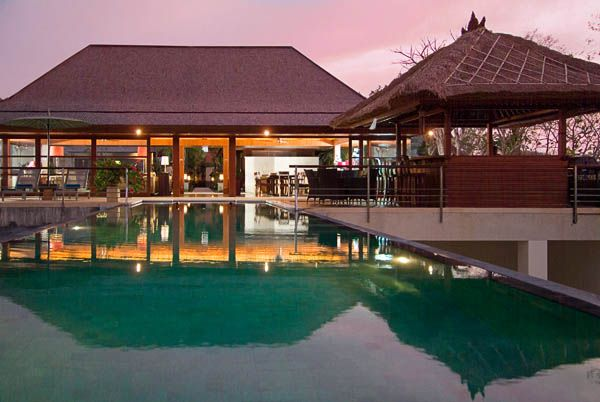 Indah Manis main House Over Pool View Sunset