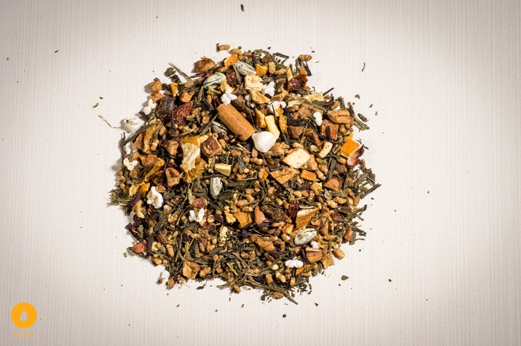 Japan Genmaicha Tea with added Toasted Rice and Mandarin to accompany our nutritious Rice Bran and Mandarin Body Oil (g.50 $10, with the oil only $48)