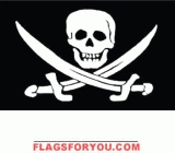 Jack Rackham's Pirate Flag 3x5- 1 left