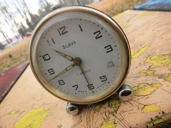 Retro alarm clock Slava   vintage alarm от AllForHappyAndLoveV
