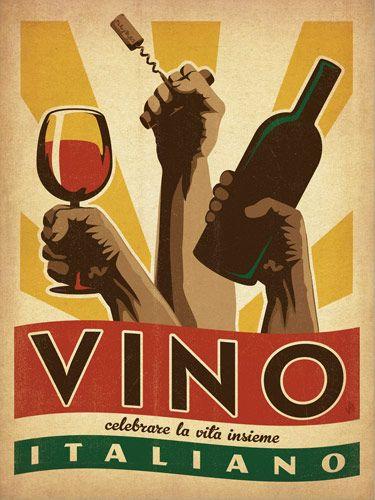 "Vino Italiano 18x24"" Print $39.00"