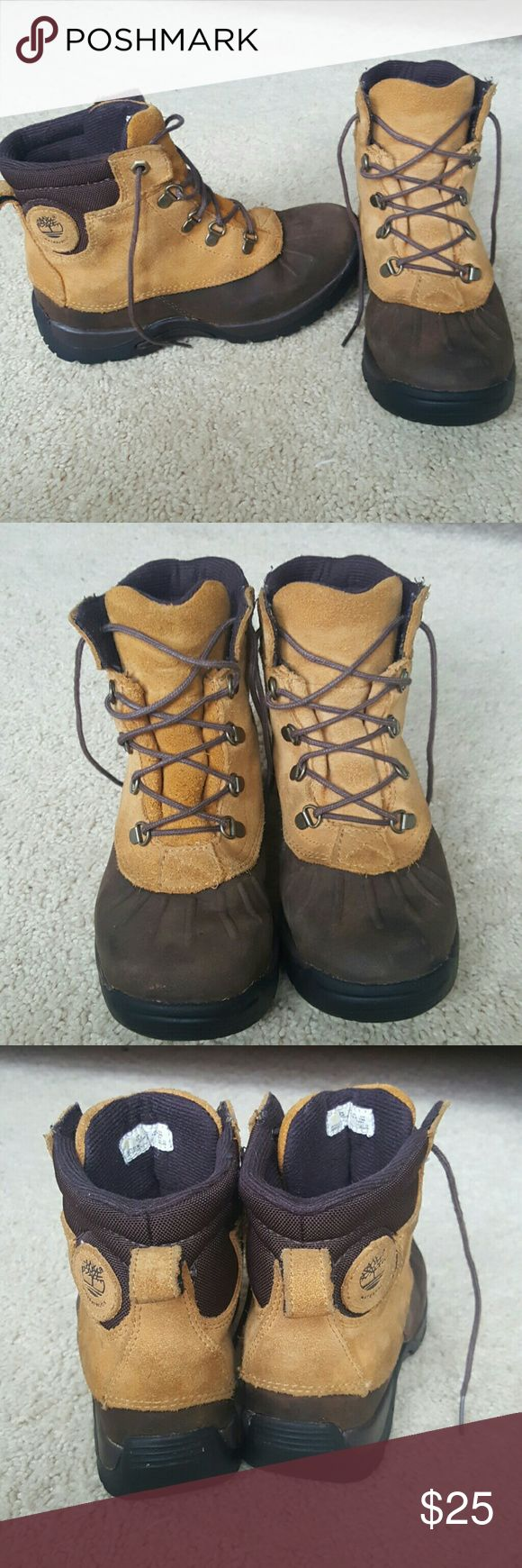 Boys timberland boots Boys timberland boots, great condition! Leather. Timberland  Shoes Boots