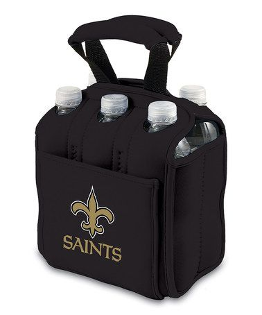 Take a look at this Black New Orleans Saints Insulated Six-Pack Carrier by Picnic Time on #zulily today!