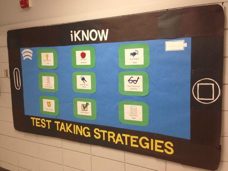bulletin board ideas for testing | Test Taking Strategies Bulletin Board | Bulletin Boards/Decorating Id ...