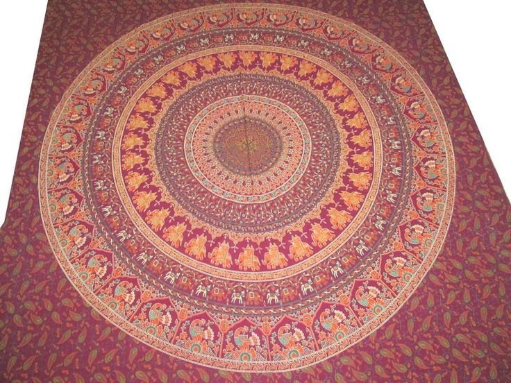 Delightful Indian Mandala Throw Hippie Hippy Tapestry Elephant Wall Hanging Queen  Tapestrieu2026