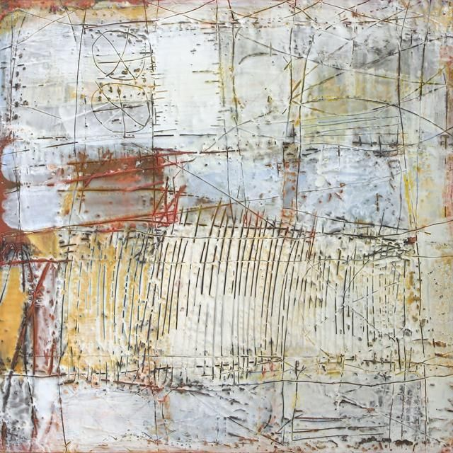 "encaustic on panel  ""20 questions"" by Beata Wehr"