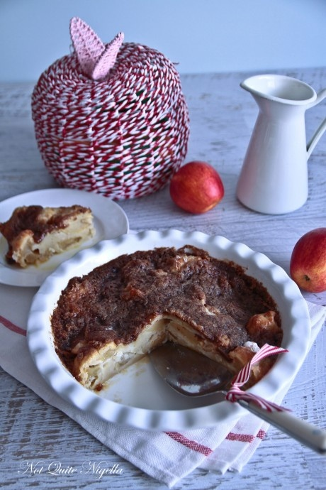 scandinavian sour cream apple pie by Not Quite Nigella