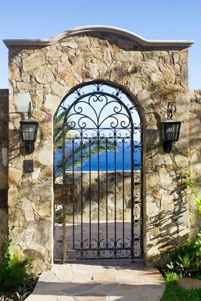 Wrought iron gate to the beach!!