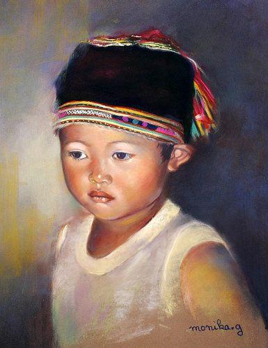 https://www.flickr.com/photos/62150651@N03/15765706905/ Manh, petit Lolo noir - pastel de Monique Genain