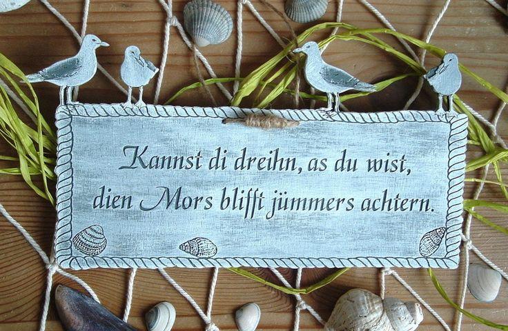 Türschild+Plattdeutsch+Plattdüütsche+Sprüche+Holz+von+Tüdelkram+und+Seemannsgarn+auf+DaWanda.com