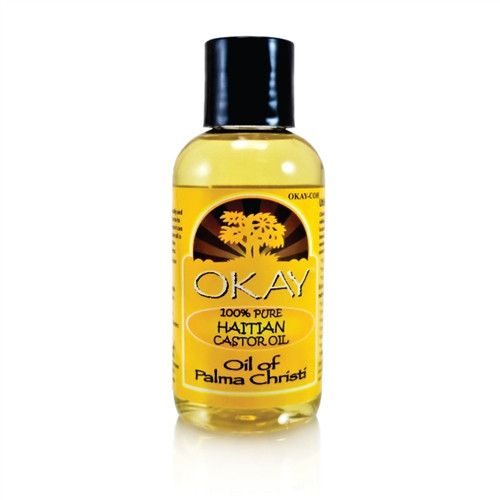 OKAY 100% Pure Haitian Castor Oil, 4 Oz