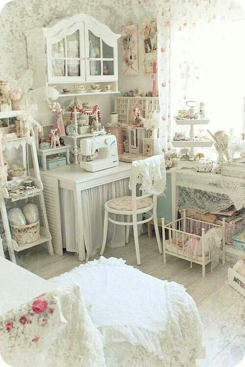 shabby chic craft room for the home pinterest crafts On shabby chic craft room