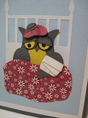 SICK Owl for a get well card.... by Lynda