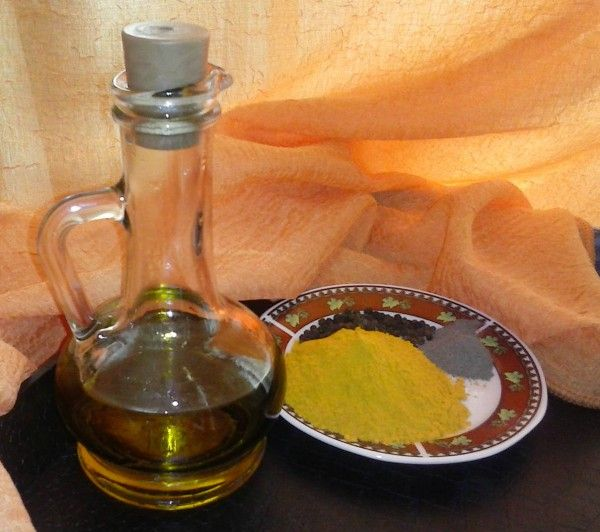 Turmeric, Olive Oil and Black Pepper