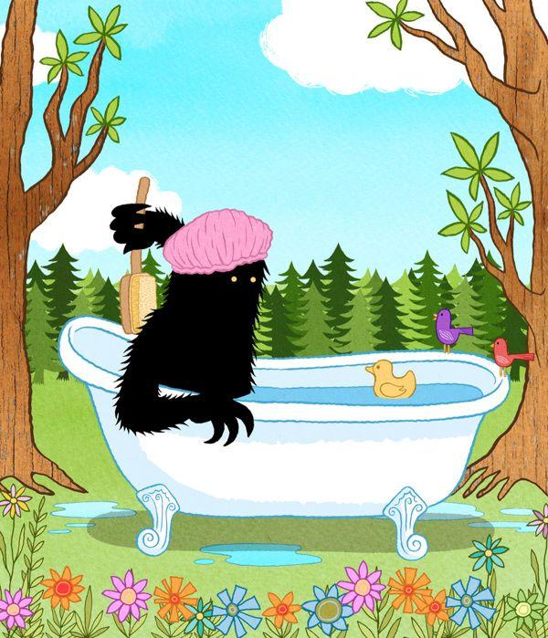 Brave Beast bathing