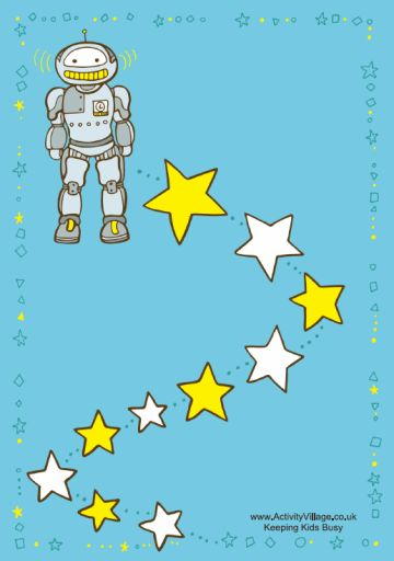 Free printable robot reward chart